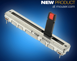 Mouser First to Stock Bourns Pro Audio's PTL and PSP Series Slide Potentiometers