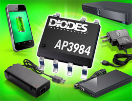 Diodes Incorporated's Power Switcher with HV Transistor Improves Efficiency of Line-Powered Chargers