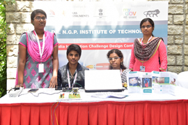 The project on Capsule based Gastric Rhythm Analyser by the students of Dr. N G P Institute of Technology, Tamil Nadu