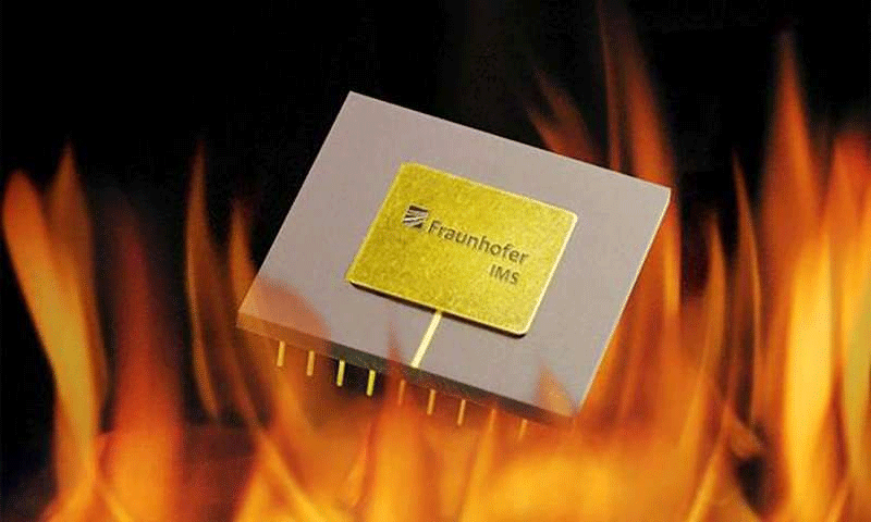 Capacitor withstands temperatures of up to 300 degrees Celsius. Credit: Fraunhofer IMS