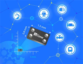 SiTime Enables Industrial IoT Applications with Smallest, Lowest-Power, Precision MEMS Reference Clocks