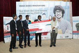 INNOVATION on 'Watchdog for Agriculture Farms' from Sri Ramakrishna Institute of Technology College wins Chairman's Award at Texas Instruments India Innovation Challenge Design Contest 2016