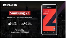 Spreadtrum LTE Chipset is Adopted for Samsung Z4 Tizen LTE Smartphone