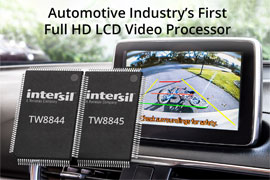 Intersil Ships Automotive Industry's First Full HD LCD Video Processor