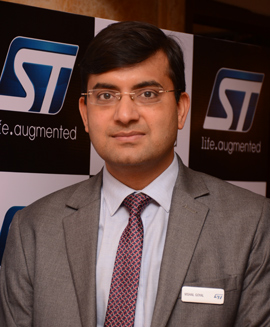 Mr. Vishal Goyal, Senior Manager - Technical Marketing, Analog and MEMS Group, RF, Sensors and Analog Custom Products, India, Asean and ANZ, STMicroelectronics