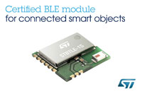 Qualified Bluetooth® Low Energy Application Processor Module from STMicroelectronics Accelerates Time-to-Market for Connected Smart Objects