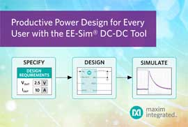 Quickly Develop Quality Power Supplies with Maxim's EE-Sim® DC-DC Converter Tool