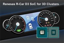 Renesas R-Car D3 SoC for 3D Clusters