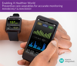 Maxim Enabling a Healthier World with Wearables for Preventive Health and Fitness Applications