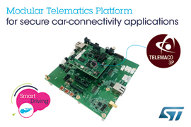 STMicroelectronics Launches Open Development Platform for Secure Car-Connectivity Applications
