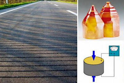 Piezoelectric road