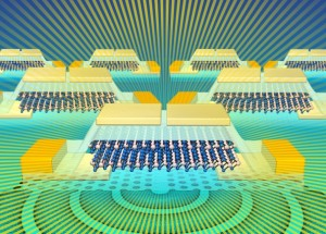 Semiconductor material could bring light onto silicon chips for high speed computing