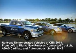 Renesas Electronics Shifts Production-Ready ADAS, Autonomous, and Cockpit Development Into High Gear at CES 2018