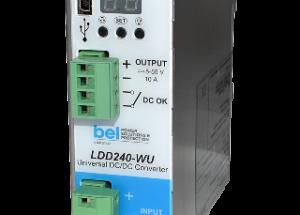 Bel Power Solutions Introduces LDD240-WU A Revolutionary 240 W DC-DC DIN Rail Converter