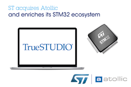 STMicroelectronics Acquires Atollic, an Embedded-Systems Company Engineering Integrated Development Environments for Arm®-core-based Microcontrollers