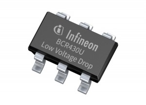 BCR430U improves efficiency for LED strips with an ultra-low voltage drop linear LED driver IC