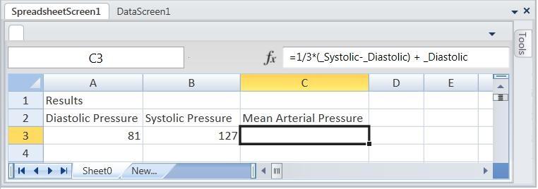 Figure 7. Spreadsheet Control