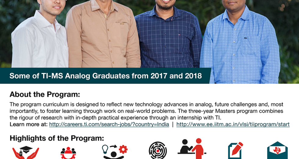 Texas Instruments India's partnership with IIT Madras for the Master of Science Program in Analog/Mixed Signal VLSI Design helps build World-Class Talent