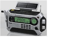 Fig. : Solar powered radio (Credit: https://www.ambientweather.com)