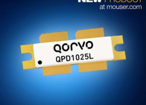Mouser Now Stocks Qorvo's Powerful 1800W QPD1025L GaN-on-SiC Transistors for Avionics