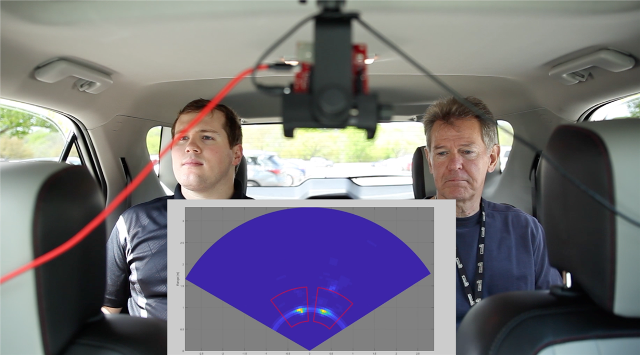Figure 2: TI's mmWave sensor detects two people sitting in a rear seat