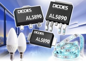 400V Linear Regulators from Diodes Incorporated Deliver Constant LED Current in Compact Packages