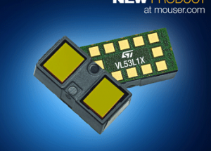 Now at Mouser Electronics: STMicroelectronics' VL53L1X  ToF Proximity Sensor, Measures Distance to 4 Meters