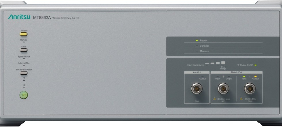2×2 MIMO WLAN Evaluation at Actual Operation Launch of 2×2 MIMO Measurement Software MX886200A-010 for MT8862A