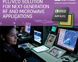 Analog Devices Introduces Industry's Most Advanced PLL/VCO Solution for Next-Generation RF, Microwave and Millimeter wave Applications