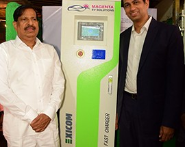 Magenta Power sets up India's first Solar Based Charging Station for Electric Vehicles