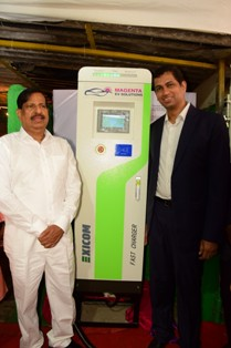 On the left Mr.Ganesh Naik, Ex MLA and Member of NCP-Mr,Kanis On the right Mr. Maxson Lewis, CEO Magenta Power