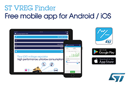 New Mobile App Simplifies Sourcing of STMicroelectronics' Voltage Regulators, Converters, and References