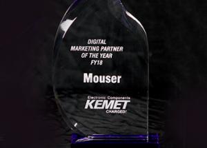 Mouser Named Global Digital Marketing Partner of the Year by KEMET