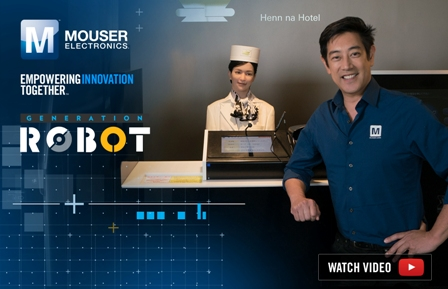 """Mouser Electronics and Grant Imahara Visit Futuristic Robot Hotel and Ponder Dawn of AI in New """"Generation Robot"""" Video"""