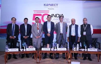 Nikhil Shah( India Representative Broadband Forum) , Manoj Misra (Senior Public Policy Directorate GSMA), Kuldeep Malik(Director-Corporate sales, MediaTek), Sandeep Gupta (Sr. Vice President, Strategy Architecture and Engineering, Airtel), Rajen Mathews (Director General, Cellular Operators Association of India), Vipin Tyagi (Executive director, CDOT)