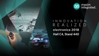 Maxim to Showcase Adaptive Manufacturing, Wearables and Automotive Solutions at electronica 2018