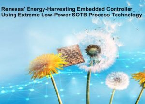 Renesas Electronics' Extreme Low-Power SOTB™ Process Technology Eliminates the Need for Batteries to Power IoT Devices