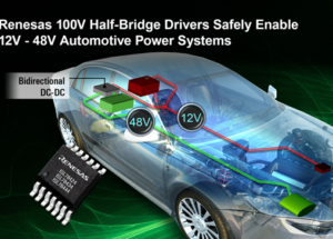 Renesas 100V Half-Bridge Drivers Safely Drive MOSFETs for Bidirectional Controller in 12V-48V Automotive Hybrid Powertrains