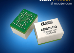 Analog Devices' ADIS1647x Mini Industrial IMUs, Now at Mouser, Improve Navigation in IoT Devices