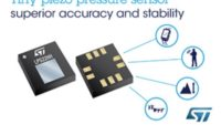 Tiny MEMS Pressure Sensor from STMicroelectronics Enhances Measurement Accuracy and Avoids Time-Consuming Calibration