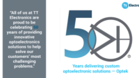 TT Electronics marks golden anniversary of innovative optoelectronics brand