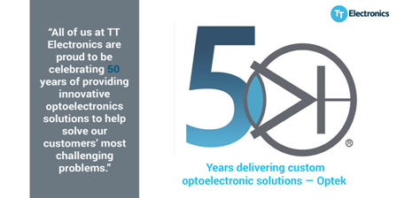 TT Electronics marks golden anniversary of innovative optoelectronics brand