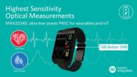 Maxim's Latest Ultra-Low-Power PMIC Enables Highest Sensitivity Optical Measurements