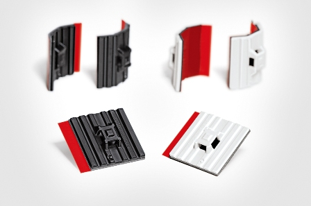 New cable tie mounts with high-performance adhesive from HellermannTyton now in stock at TTI, Inc.