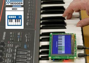 MIDI class support for SEGGER USB host stack emUSB-Host