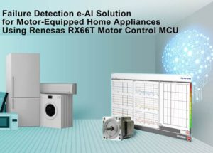 Renesas Electronics Simplifies Home Appliance Maintenance with Failure Detection e-AI Solution for Motor-Equipped Home Appliances