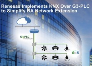 Renesas Electronics Implements KNX Protocol Over G3-PLC to Simplify Building Automation Network Extension for Smart Buildings