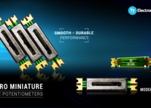 Micro miniature slide potentiometers from TT Electronics offer smooth and durable performance