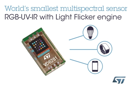 STMicroelectronics' New Full-Color Ambient Light Sensor with Flicker Detect Boosts Camera Performance in Smartphone and IoT Devices