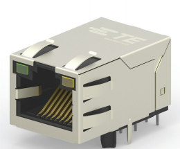 TE Connectivity Announced Ethernet Jacks with Integrated Magnetics and PoE